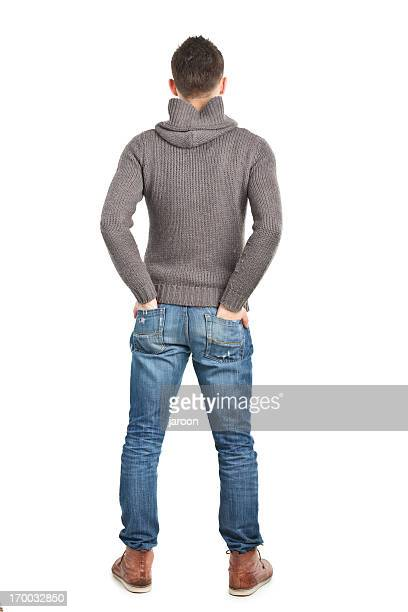 young handsome man - male bum stock pictures, royalty-free photos & images