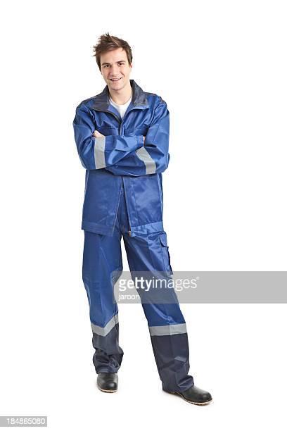 Junge gut aussehend Arbeiter