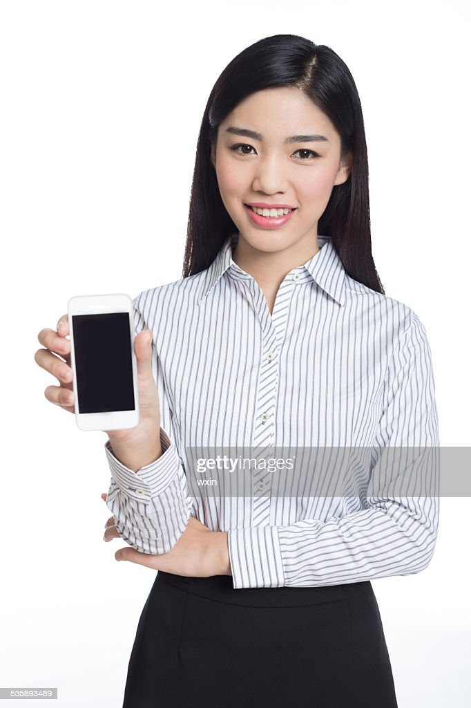 young happy business woman, chinese : Stockfoto