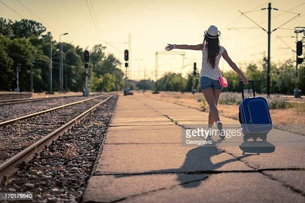 Young happy female Traveler