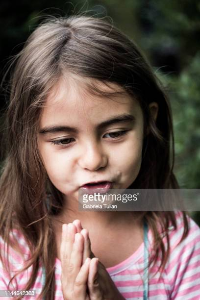young happy girl picking fresh blueberries from a bush - gabriela stock pictures, royalty-free photos & images
