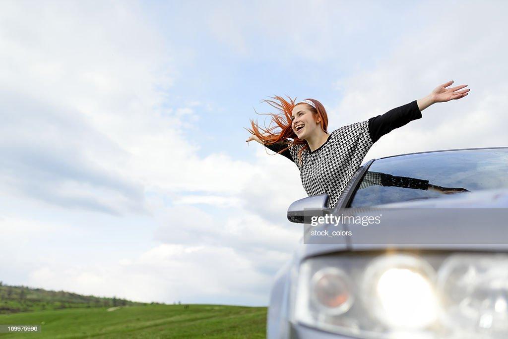 Giovane donna felice : Foto stock