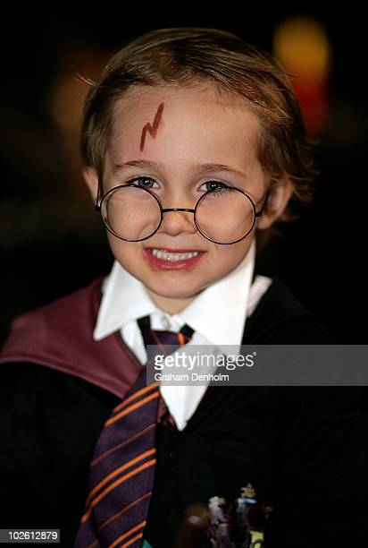 A young Harry Potter fan poses at the LEGO Harry Potter Open Day at Sydney University on July 4 2010 in Sydney Australia The launch event for the...
