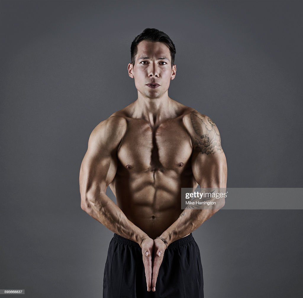 Young Healthy Male With Muscular Torso Stock Photo Getty Images