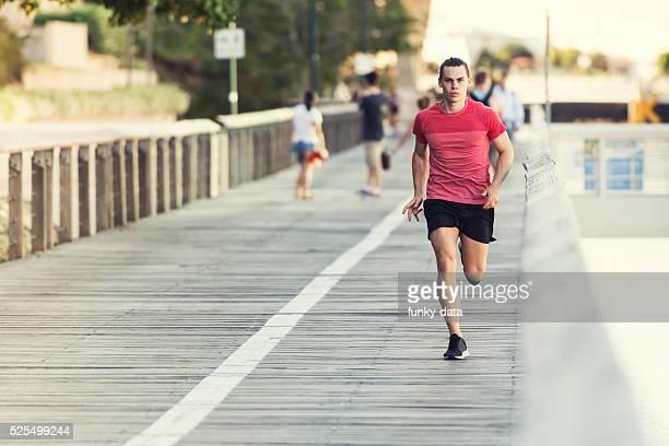 Young healthy man jogging