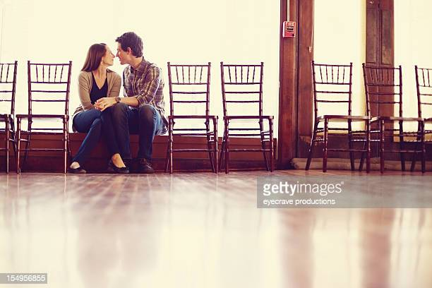 young heterosexual couple happiness