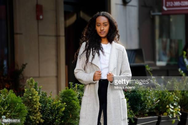 Young, hip Muslim female in urban setting