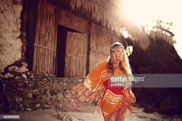 Femme jeune Hippie