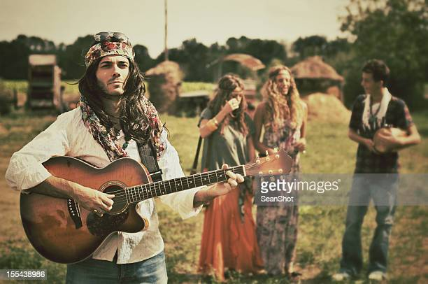 Young Hippies. 1970s style.
