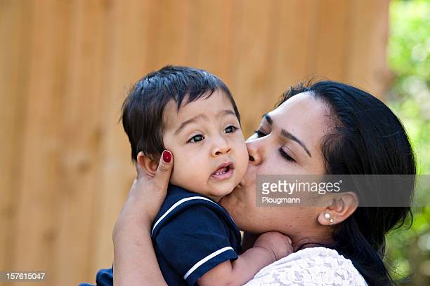 Young Hispanic mother with her son