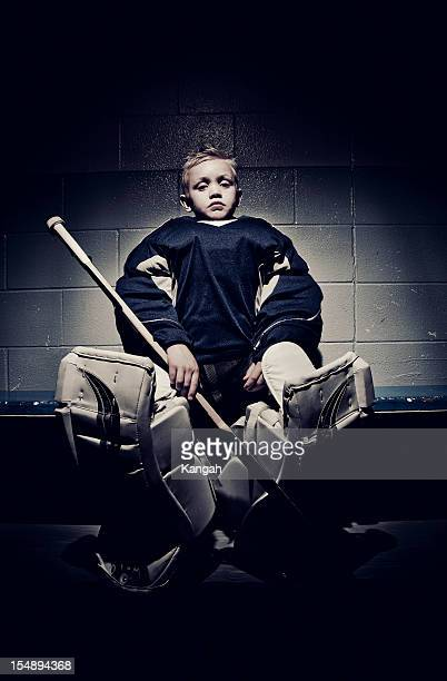 Young Hockey Player-Goalie