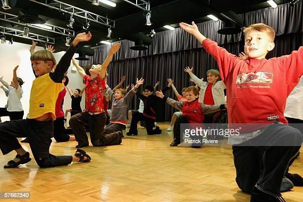 """Young """"hopefuls"""" perform at the audition for the search for """"Little Peter"""" in the new production of The Boy From Oz at the Sydney Entertainment..."""