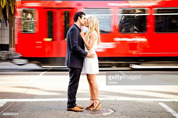 young hot couple - peck stock pictures, royalty-free photos & images