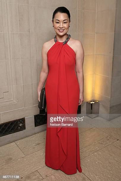 Young Huh attends the The Frick Collection 2015 Young Fellows Ball A Dance at the Spanish Court sponsored by LANVIN at The Frick Collection on March...