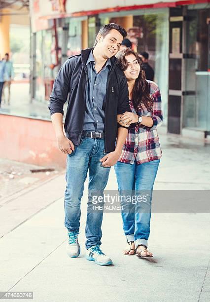 Young indian couple bonding