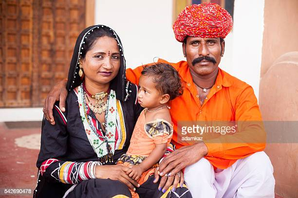 Young Indian Family Portrait