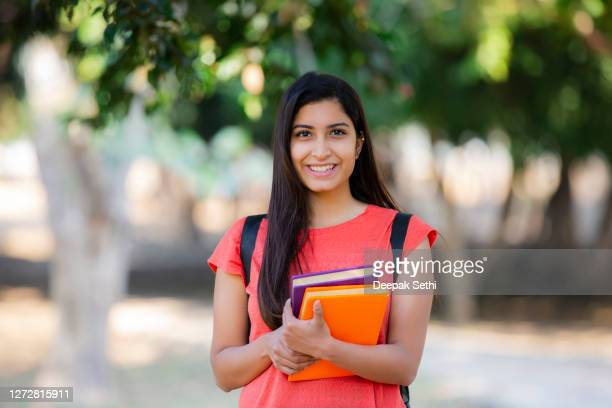 young indian female university student stock photo - india stock pictures, royalty-free photos & images