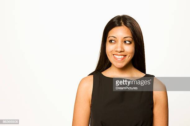 Young Indian woman in black skirt