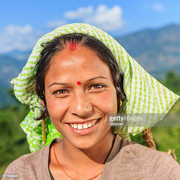 Young Indian woman in Darjeeling, India