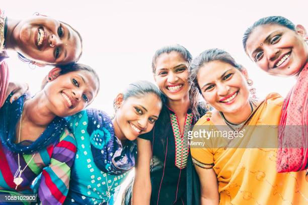 young indian women group having fun together - indian culture stock pictures, royalty-free photos & images