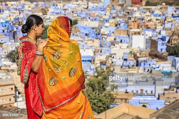 若いインドの女性の眺め、ジョードプル,インド