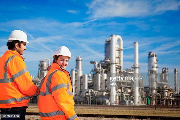 young industrial workers - hamn bildbanksfoton och bilder