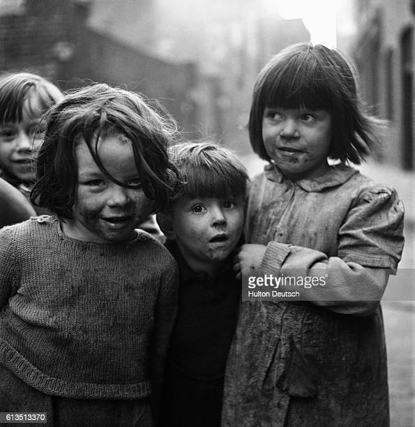 Young inhabitants of the Stepney slum on the east end of London