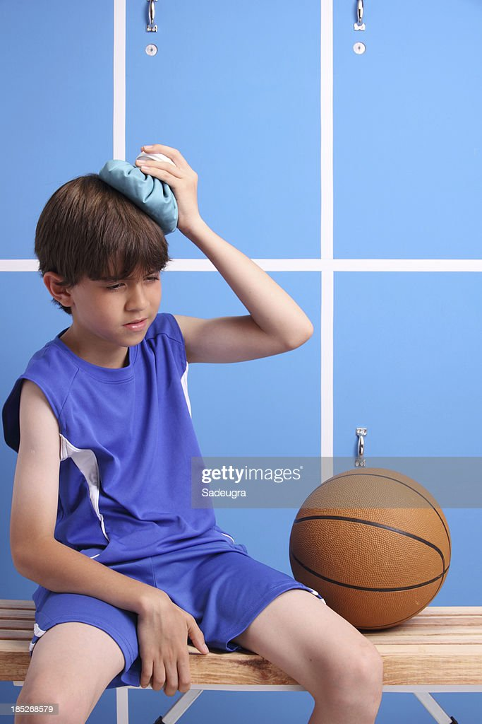 Young Injured Basketball Player : Stock Photo