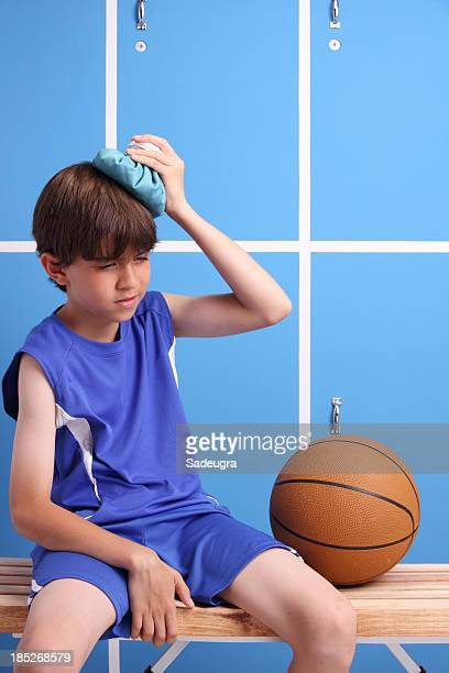 Young Injured Basketball Player