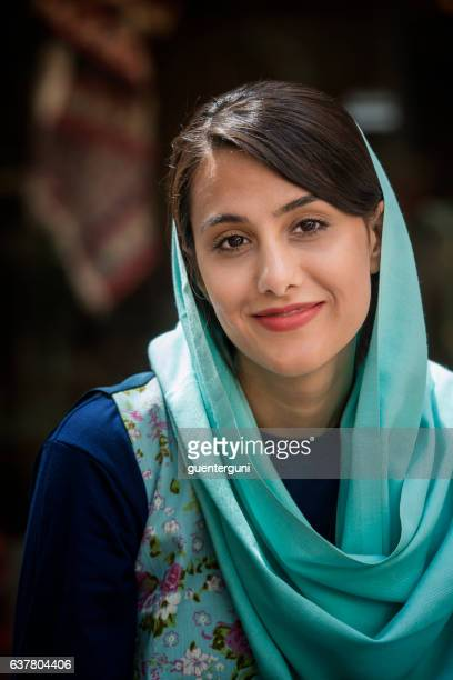 Young iranian woman wearing a headscarf, Isfahan, Iran
