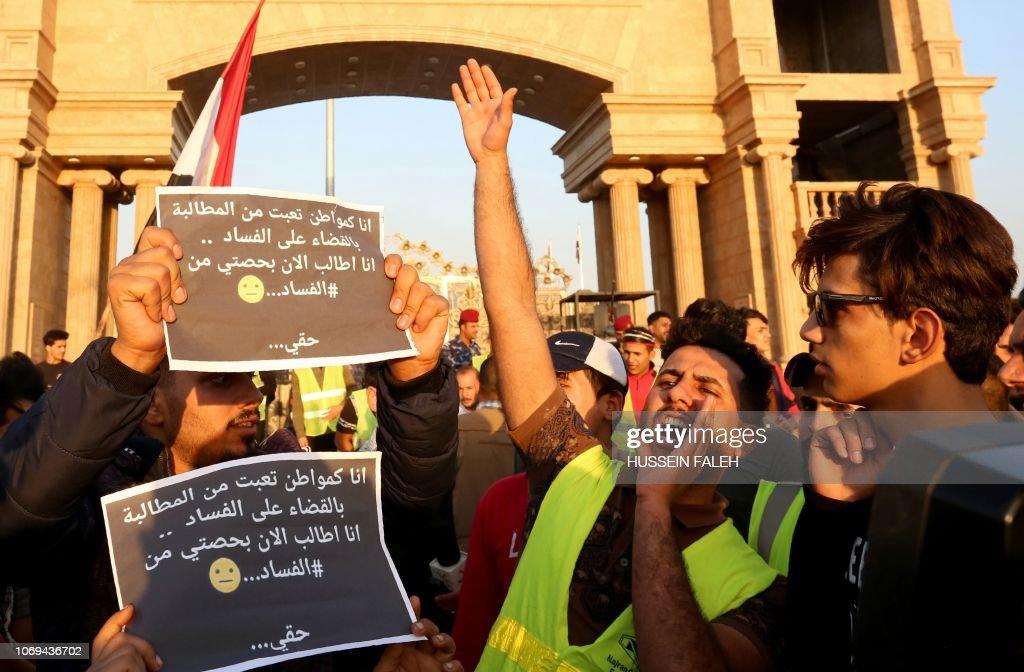 IRAQ-CORRUPTION-PROTEST : Photo d'actualité