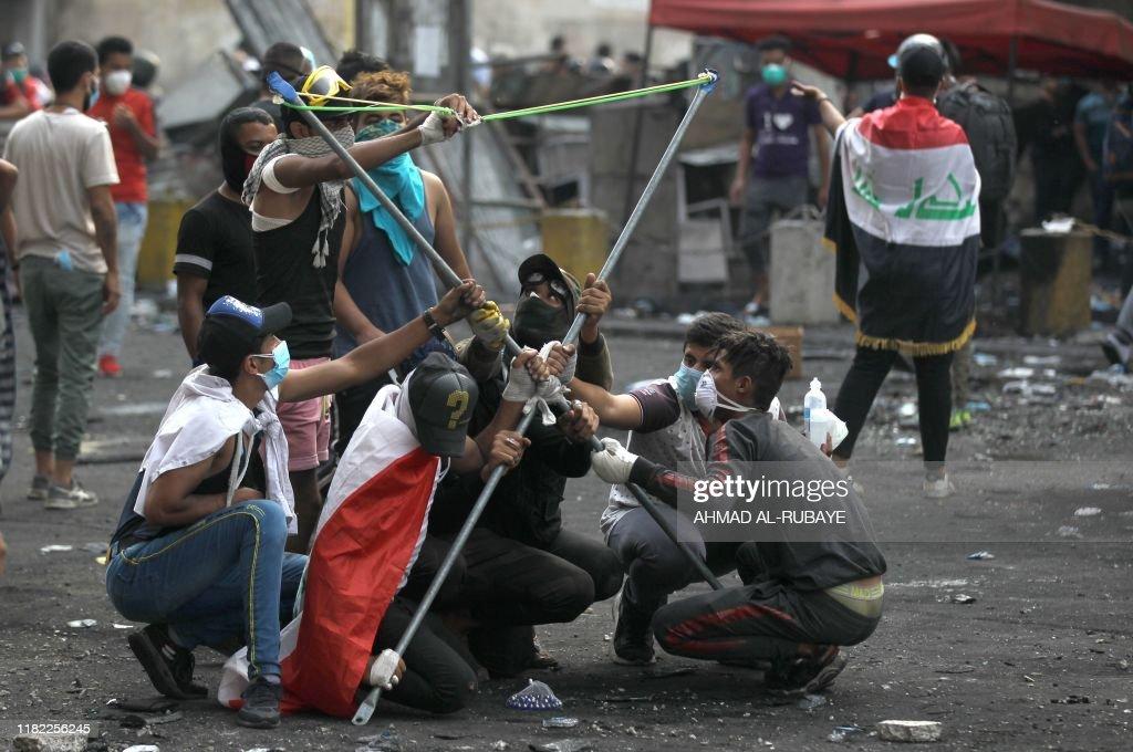 IRAQ-POLITICS-UNREST-DEMO : News Photo