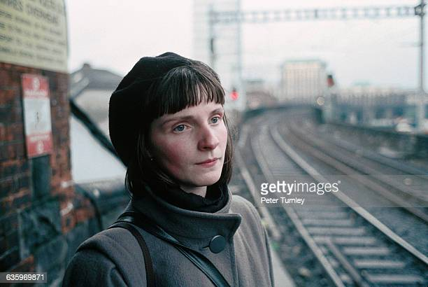 Young Irish Woman near Railroad Tracks