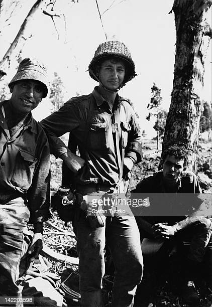 Young Israeli soldiers in the Syrian hills during the SixDay War June 1967