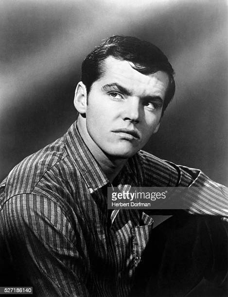 A young Jack Nicholson in a publicity still for the movie The Cry Baby Killer