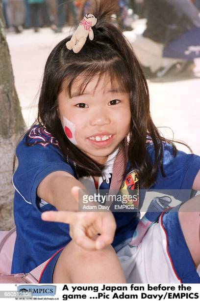 A young Japan fan before the game