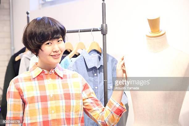Young Japanese fashion designer