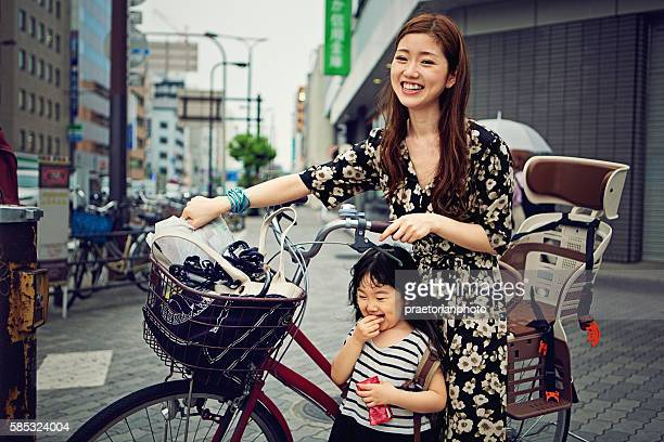 Young Japanese mother and her daughter