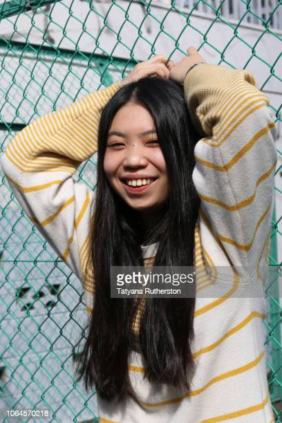Young Japanese woman in Tokyo city scape