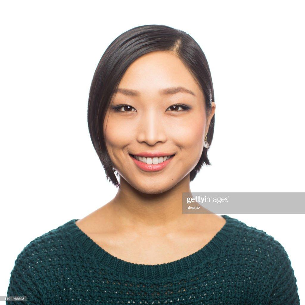 Jonge Japanse vrouw op zoek naar zelfverzekerd : Stockfoto