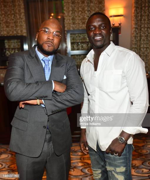 Young Jeezy and Akon attend Jason Geter And Bu Thiam Present Dinner A Toast on June 16 2012 in Atlanta Georgia
