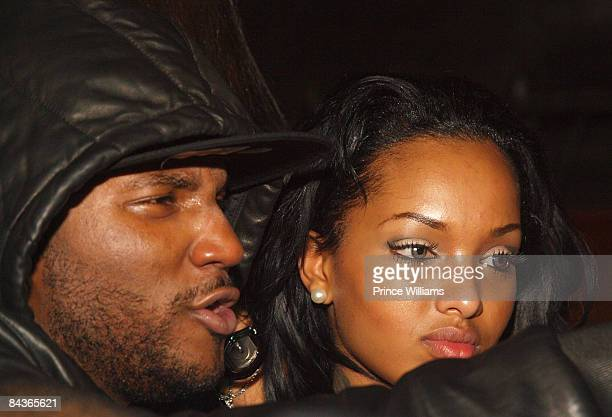 Young Jeezy and Angel Lola Love attend Young Jeezy's 'Presidential Status' Inauguration Ball at Club Love on January 18 2009 in Washington DC
