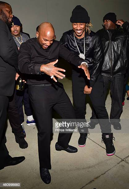 Young Jeezy and Future attend Compound on December 31 2014 in Atlanta Georgia