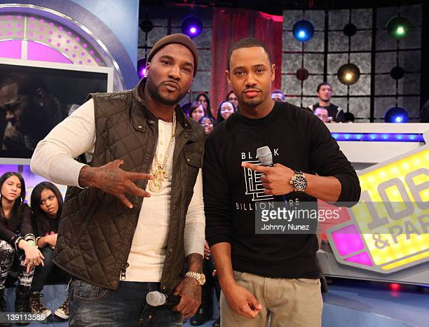 Young Jeezy and host Terrence J visit BET's '106 Park' at the BET Studios on February 16 2012 in New York City