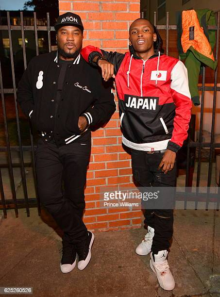 Young Jeezy and Jadarius Jenkins attend the 5th Annual No Reservations Needed Dinner at Atlanta Mission on November 22 2016 in Atlanta Georgia