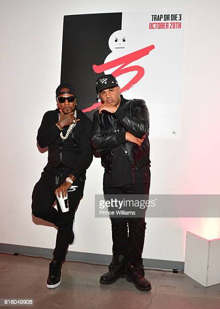 Young Jeezy and Lenny S Attend Trap or Die 3 Listeing Party at The B Loft on October 20 2016 in Atlanta Georgia