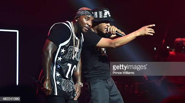 Young Jeezy and TI perform at Jeezy Presents TM101 10 Year Anniversary concert at The Fox Theatre on July 25 2015 in Atlanta Georgia