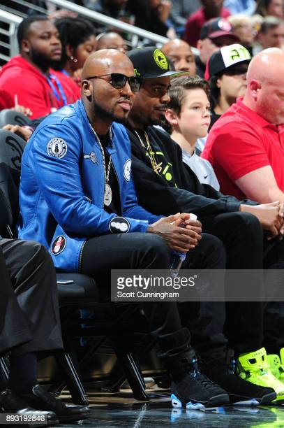 Young Jeezy attends the game between the Detroit Pistons and the Atlanta Hawks on December 14 2017 at Philips Arena in Atlanta Georgia NOTE TO USER...