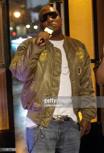 Young Jeezy during LL Cool J TI Christina Milian Keyshia Cole Nick Cannon Young Jeezy and Yung JOC Visit MTVs Direct Effect April 3 2006 at MTV...
