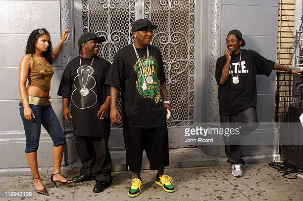 """Young Jeezy during Young Jeezy on Location for """"Soul Survior"""" Music Video - August 11, 2005 at Williamsburg, Brooklyn in New York City, New York,..."""